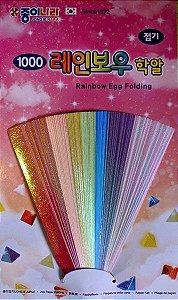 Papel para origami 0,8x9cm 7 cores Jong Ie Nara (84fls)