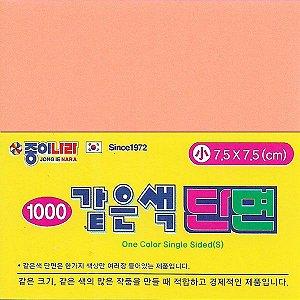 Papel para Origami 7,5x7,5cm AAB00116 Laranja Amarelado Pastel (80fls) Jong Ie Nara