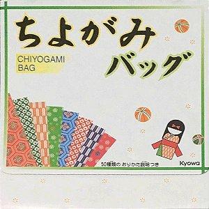 Papel P/ Origami 15x15cm Estampada Face única c/ Maleta (8fls)