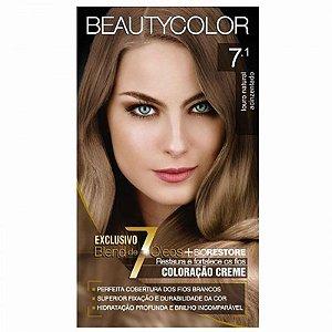 Tintura Beauty Color 7.1 Louro Natural Acinzentado