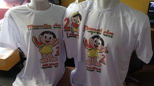 Kit Camisetas Personalizadas para aniversários e eventos
