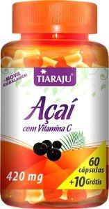Açaí + Vitamina C (60 caps +10 grátis) - Tiaraju