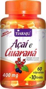 Açaí + Guaraná (60 caps + 10 grátis) - Tiaraju
