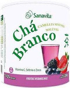 Chá Branco - Frutas Vermelhas - Sanavita