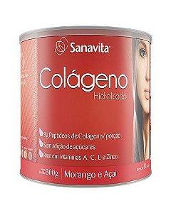 Colágeno Hidrolisado - Morango e Açaí - Sanavita
