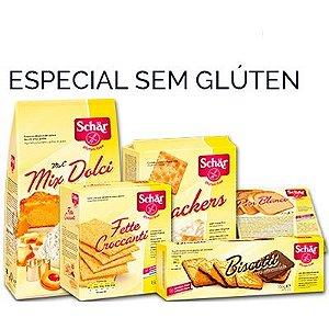 Especial Sem Glúten Schär Plan Branco + Cracker + Torrada + Mix Dolci + Biscoito de Chocolate