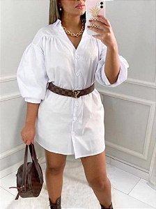 Camisa Longa com Manga Bufante