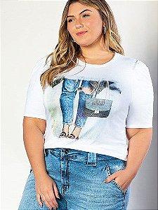 T-shirt em Meia Malha