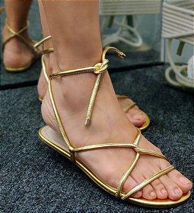 Sandália Schutz Cordão Dourado