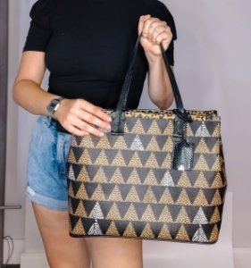 Bolsa Triangulo Schutz Shopping Bag Animal Print Original