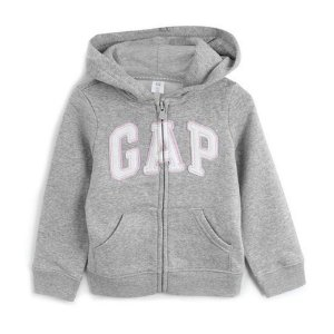 Blusa de Moletom GAP Menina Logo Cinza