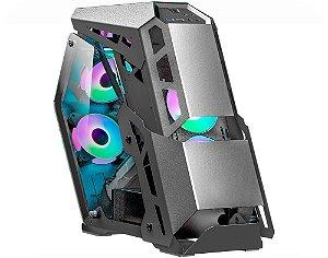Gabinete Gamer K-mex Stryker CG-04BA Open Casemod Sem Fans