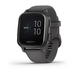 Relógio Garmin Venu Sq Cinza Com Monitor Cardíaco Gps