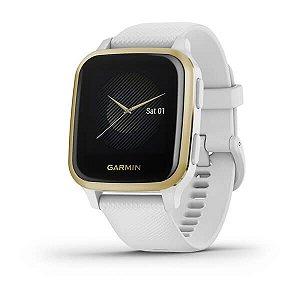 Relógio Garmin Venu Sq branco Com Monitor Cardíaco Gps