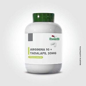 ARGININA 1G+ TADALAFILA 20MG C/ 30 DOSES