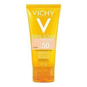 Protetor Solar Vichy IDÉAL SOLEIL EFEITO BASE CLARA FPS 50- 40G