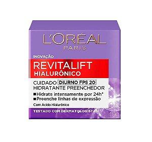 Creme Diurno Anti-idade L'Oréal Paris - Revitalift Hialurônico 49g