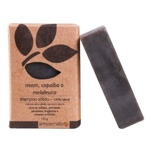 Shampoo Sólido Neem, Copaíba e Melaleuca 115g - Ares de Mato
