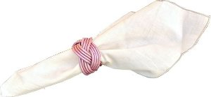 4 peças porta guardanapo Madeleine rosa