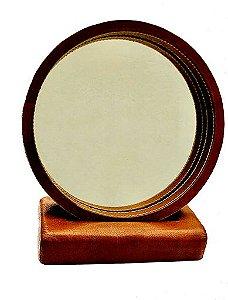 Espelho Camarim em Couro