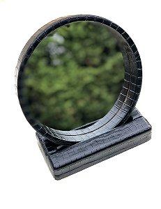 Espelho  viagem portátil preto
