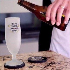 Taça em vidro jateado para cerveja