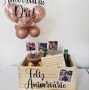 Festa na Caixa Madeira com Cerveja e  Balão Bubble