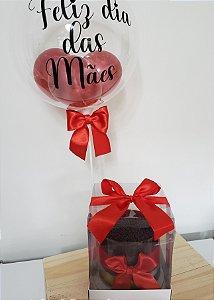 Bolo com Balão Dia das Mães