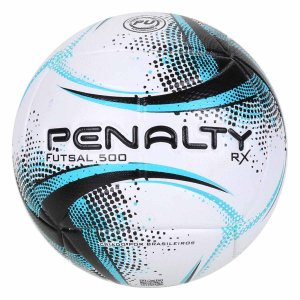 Bola Futsal RX 500 XXI Branco e Azul Tamanho Único Penalty