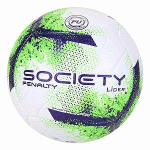 Bola Futebol Society Líder XXI Branco e Verde Penalty
