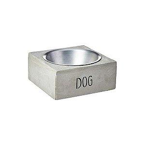 Comedouro Pequeno Cimento Dog Decorglass