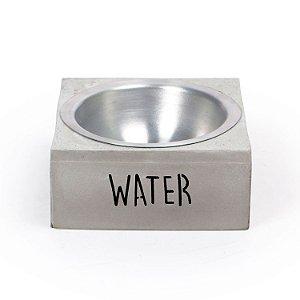 Comedouro Pequeno Cimento Water Decorglass