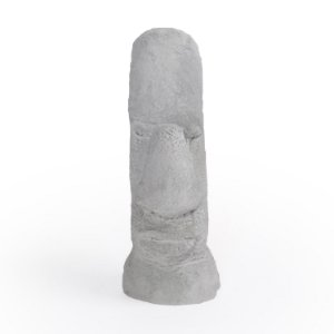 Escultura Decorativa Moai de Cimento Decorglass
