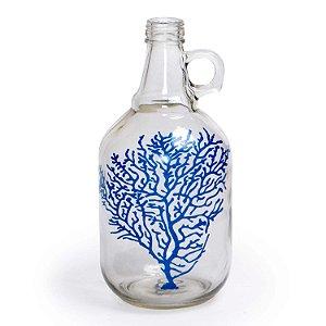 Ornamento Decorativo Garrafa Coral Decorglass