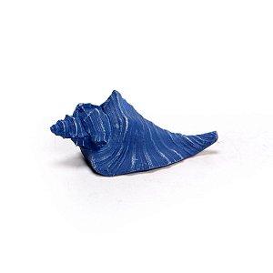 Ornamento Resina Caracol Médio Azul Escuro Decorglass