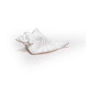 Ornamento Resina Caracol Médio Branco Decorglass