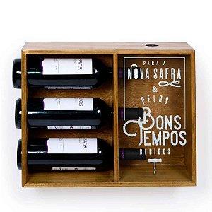 Adega Vinhos com Porta Rolhas Decorativo Decorglass