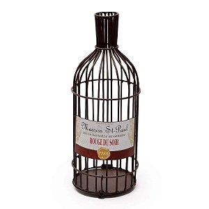 Enfeite Porta Rolhas Garrafa de Vinho Decorglass