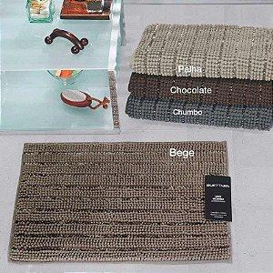 Tapete Chenille Shine 40x60 Microfibra Chocolate Bouton