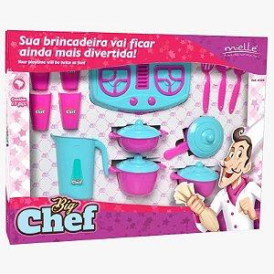 Brinquedo Big Chefe Kit 3 com 17 Peças Mielle Brinquedos