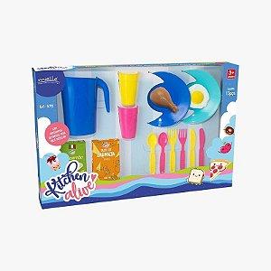 Kitchen Alive Panelinhas com 15 Peças Mielle Brinquedos
