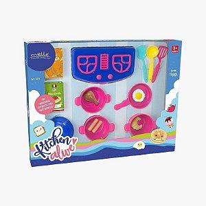 Kitchen Alive Panelinhas com 18 Peças Mielle Brinquedos