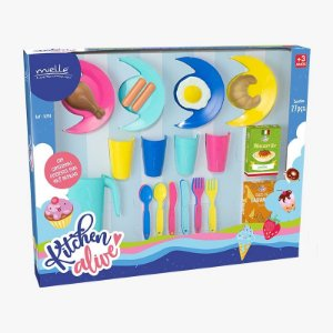 Kitchen Alive Panelinhas com 27 Peças Mielle Brinquedos
