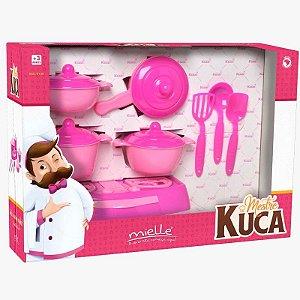 Panelinhas Mestre Kuca com 12 Peças Mielle Brinquedos