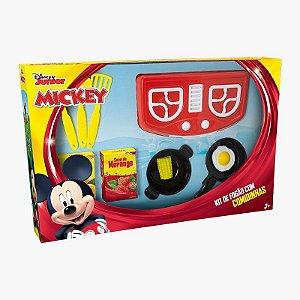Fogão com Comidinhas Mickey 10 Peças Mielle Brinquedos
