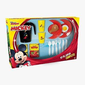 Kit Jantar Completo Mickey 15 Peças Mielle Brinquedos