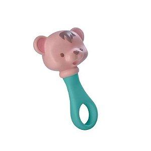 Chocalho Ursinho de Borracha Mielle Brinquedos