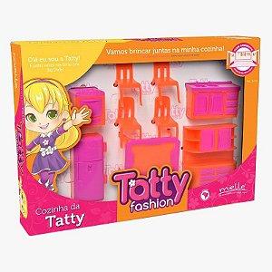Mini Cozinha Tatty Fashion 7 Peças Mielle Brinquedos
