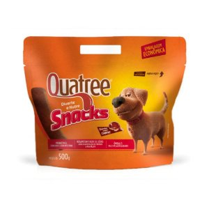 Petisco Snacks Bifinhos Sabor Carne 500g Quatree