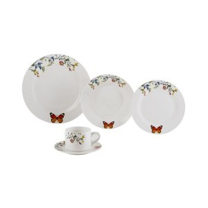 Aparelho de Jantar 20 pc Porcelana Branco Delicate